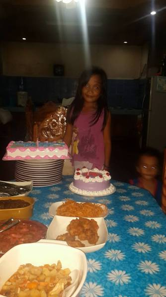 Celebrating Angel's 8th birthday